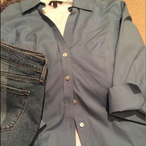 14W Talbots Woman Wrinkle Resistant 3/4 sleeve